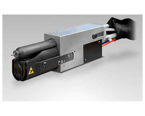 Głowica automatyczna AU250R do montażu na ramieniu robota.