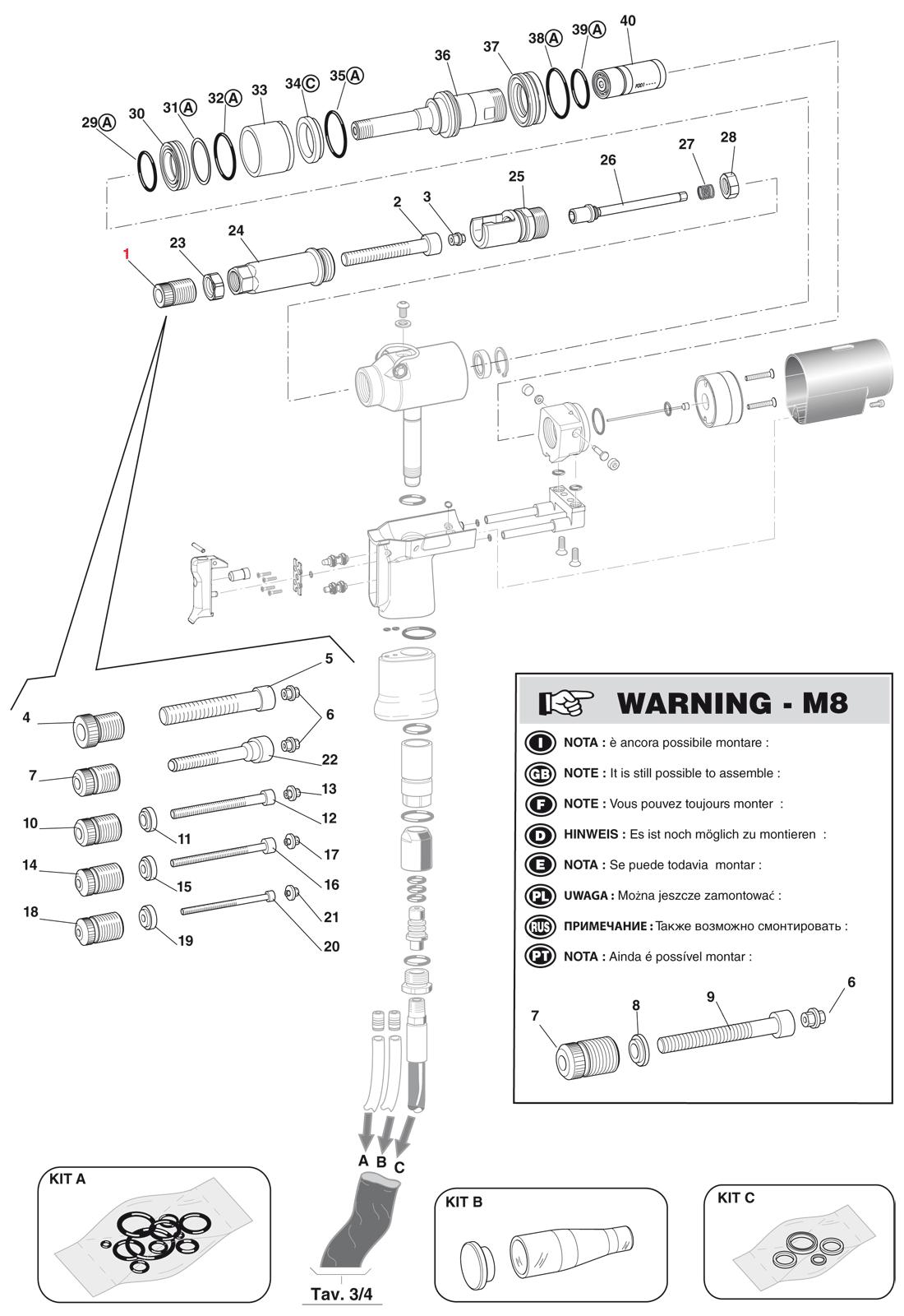 Części do nitownicy KJ73