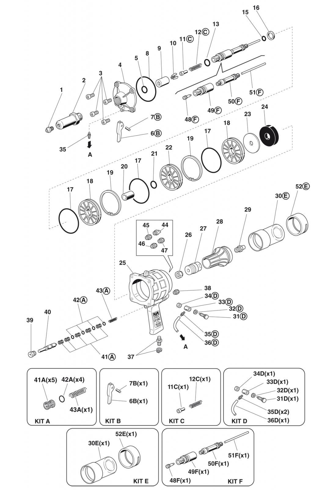 Części do nitownicy RAC83/AX