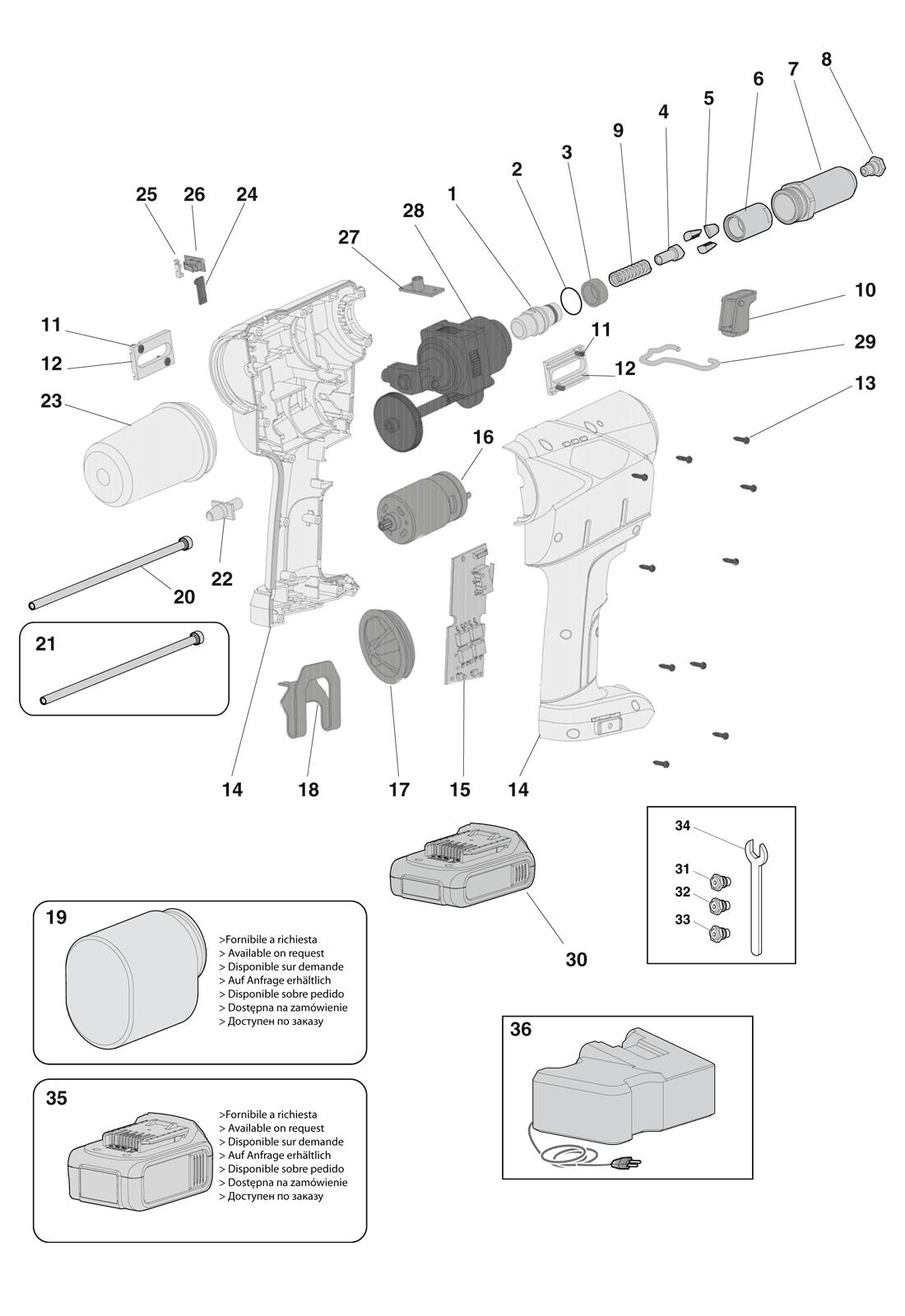 Części do nitownicy EB500 (EXTRA)