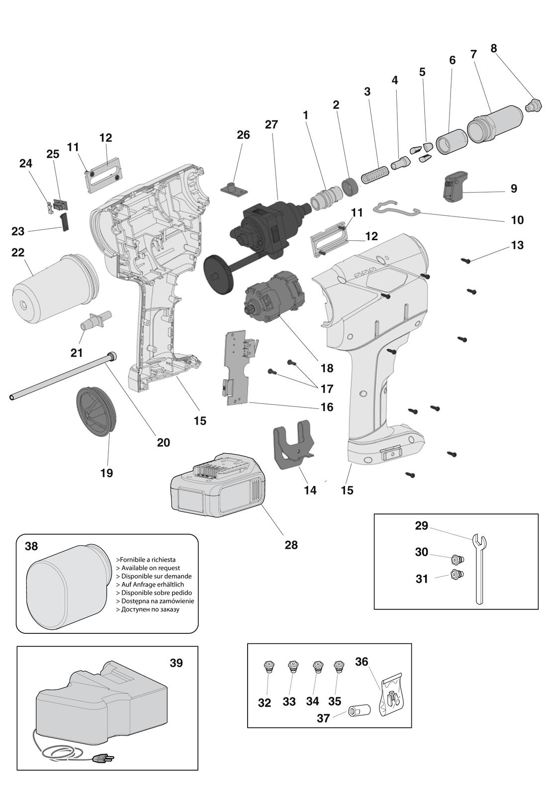 Części do nitownicy EB640 (EXTRA)