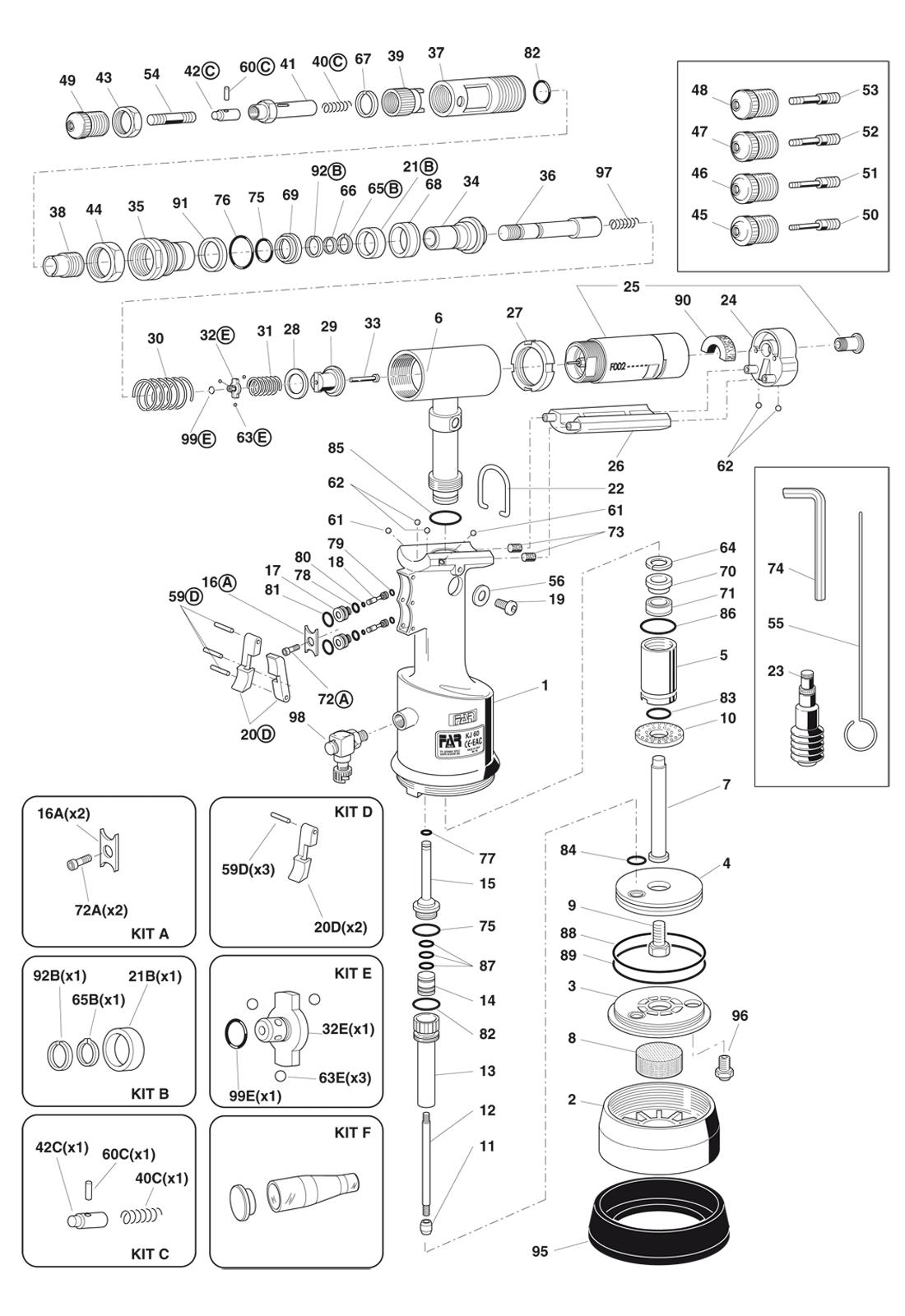 Części do nitownicy KJ60